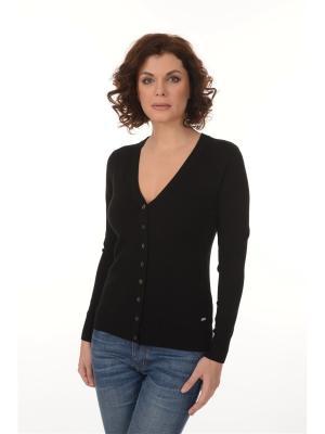 Классический чёрный кардиган ORFAMA  хорошо сочетается практически с любой одеждой.. Цвет: черный