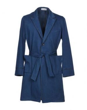 Легкое пальто UMIT BENAN. Цвет: синий