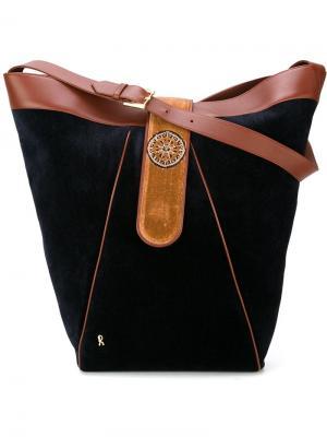 Бархатная сумка-мешок на плечо Roberta  Di Camerino Vintage. Цвет: чёрный