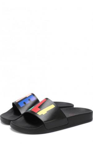 Шлепанцы с контрастной отделкой Stella McCartney. Цвет: черный