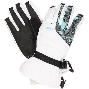 Перчатки сноубордические женские  Falon Glove White Pow. Цвет: белый,черный,голубой