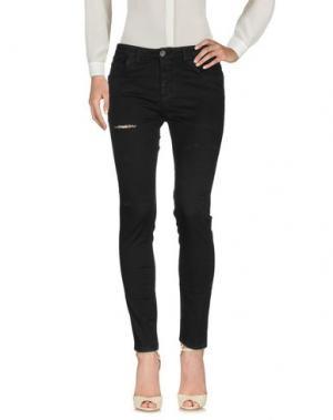 Повседневные брюки DIRTYPAGE. Цвет: черный