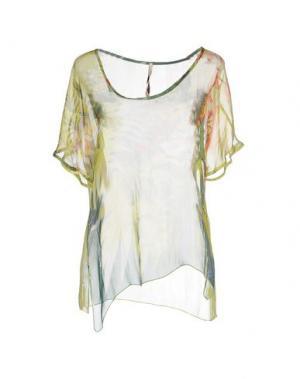 Блузка EMMA&GAIA. Цвет: кислотно-зеленый