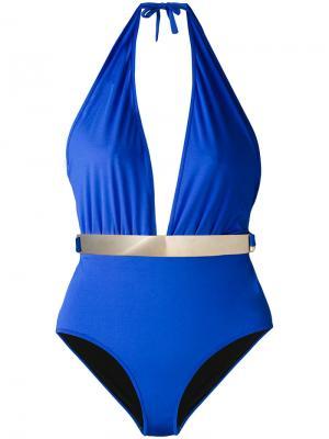 Слитный купальник Bridget Moeva. Цвет: синий