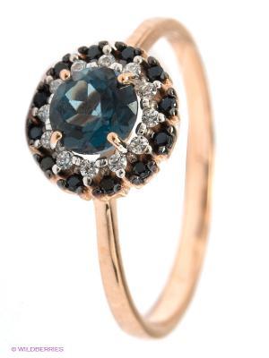 Кольцо SOKOLOV. Цвет: синий, золотистый