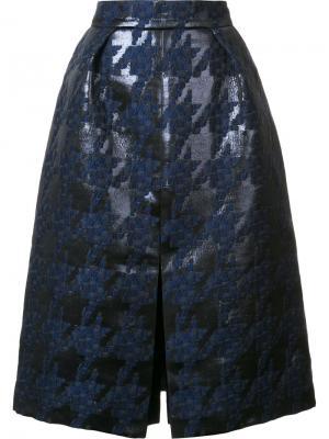 Фактурная юбка Martin Grant. Цвет: чёрный