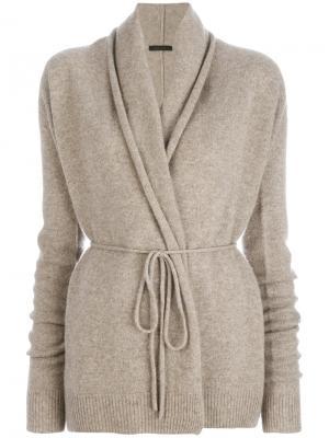 Трикотажный пиджак свободного кроя The Row. Цвет: телесный