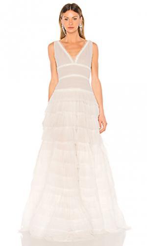 Вечернее платье amelia Bronx and Banco. Цвет: белый