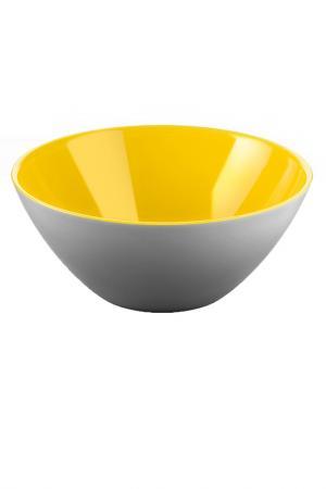 Салатница My Fusion 20 см GUZZINI. Цвет: серый, желтый