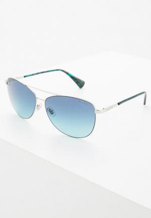 Очки солнцезащитные Ralph Lauren. Цвет: серебряный