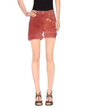 Джинсовые шорты SOUVENIR. Цвет: ржаво-коричневый