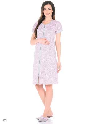 Халат для беременных FEST. Цвет: розовый, серый