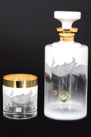 Набор для виски, 7 предметов Bohemia. Цвет: белый, золотой