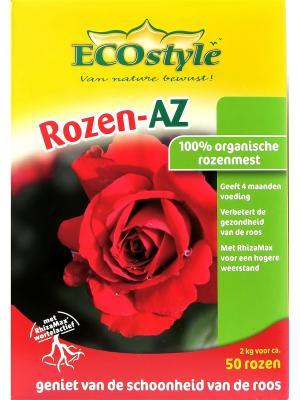 Натуральное органическое удобрение Rozen-AZ для любых сортов роз, 2 кг на 20 кв. м ECOstyle. Цвет: желтый, зеленый