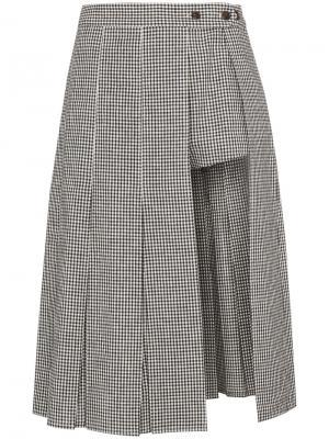 Юбка-шорты в клетку Uniform Sandy Liang. Цвет: чёрный