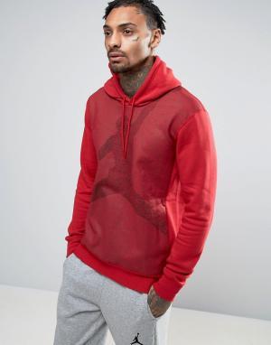 Jordan Худи без застежки с логотипом Nike Jumpman 834369-687. Цвет: красный