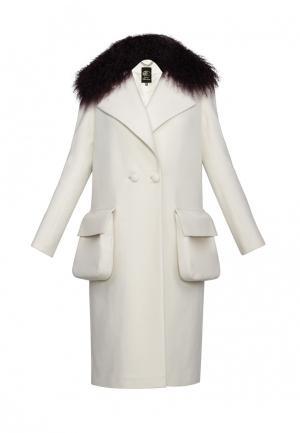 Пальто Anastasya Barsukova. Цвет: белый