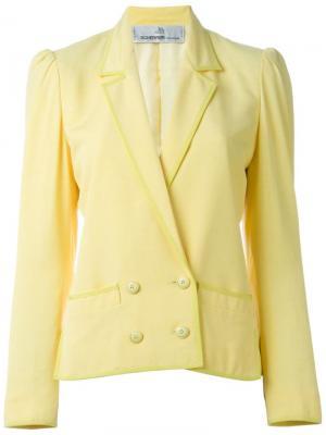 Двубортный блейзер Jean Louis Scherrer Vintage. Цвет: жёлтый и оранжевый