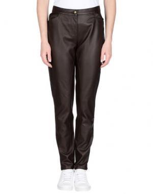 Повседневные брюки TOY G.. Цвет: темно-коричневый