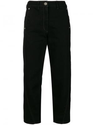 Укороченные брюки с завышенной талией Lemaire. Цвет: чёрный