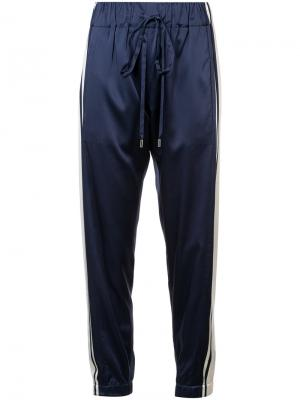 Side stripe trousers Monse. Цвет: синий