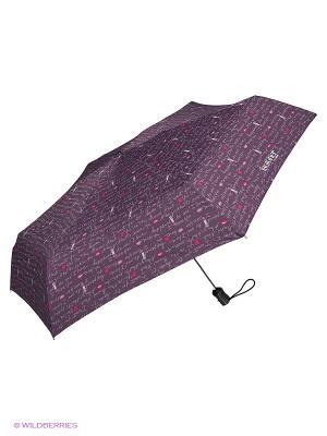 Зонты Isotoner. Цвет: белый, сиреневый, розовый