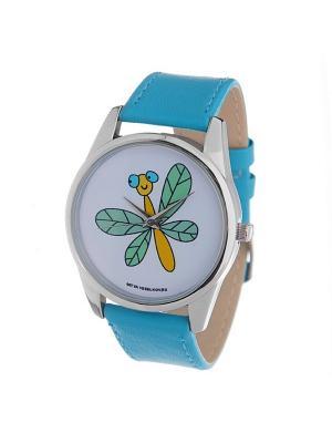 Часы Mitya Veselkov Стрекоза. Цвет: голубой