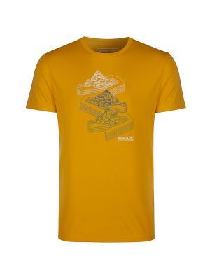Футболка Fingal REGATTA. Цвет: желтый