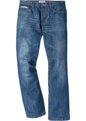 Расклешенные джинсы Regular Fit с контрастными швами, cредний рост (N) (синий) bonprix. Цвет: синий