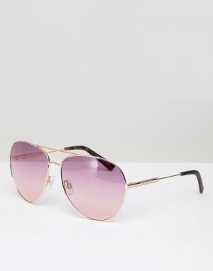 River Island Солнцезащитные очки-авиаторы с эффектом омбре. Цвет: медный