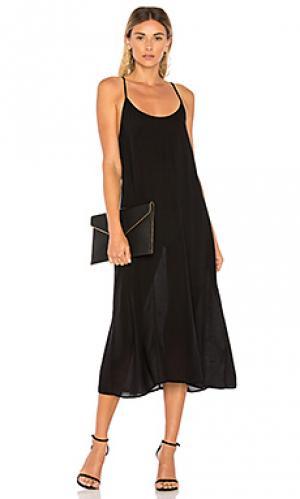 Платье-комбинация racer LACAUSA. Цвет: черный