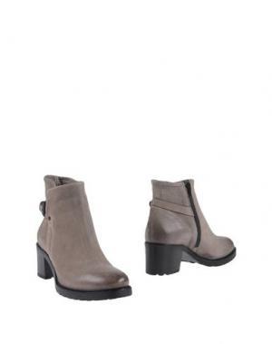 Полусапоги и высокие ботинки PROGETTO. Цвет: голубиный серый