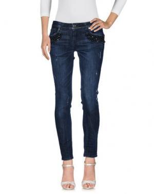 Джинсовые брюки EUREKA. Цвет: синий