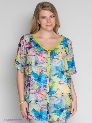 Блузка ARDATEX. Цвет: зеленый, голубой, розовый, желтый