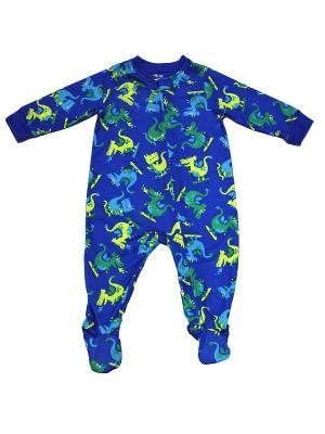 Комбинезон для сна Дракоши Little Me. Цвет: синий, зеленый