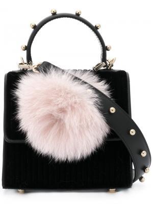 Маленькая сумка на плечо Alex Bunny Les Petits Joueurs. Цвет: чёрный
