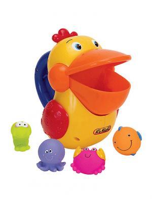 Пеликан для ванной K'S Kids. Цвет: желтый, оранжевый