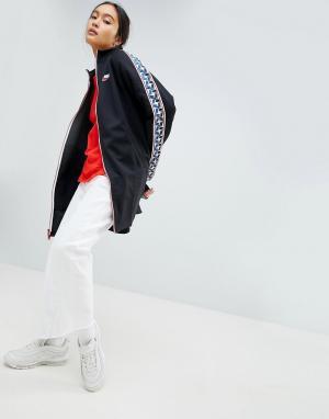 Nike Черная спортивная куртка с отделкой лентой. Цвет: черный