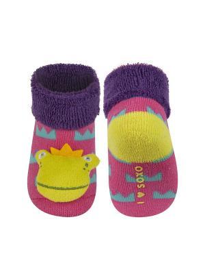 Носки детские с игрушкой Soxo. Цвет: розовый