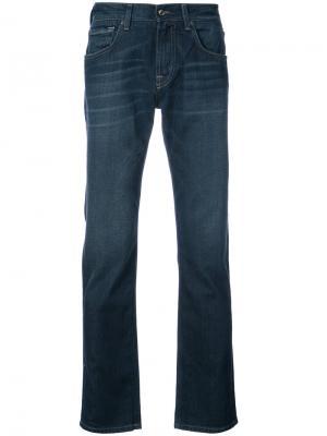 Прямые джинсы Slimmy 7 For All Mankind. Цвет: синий