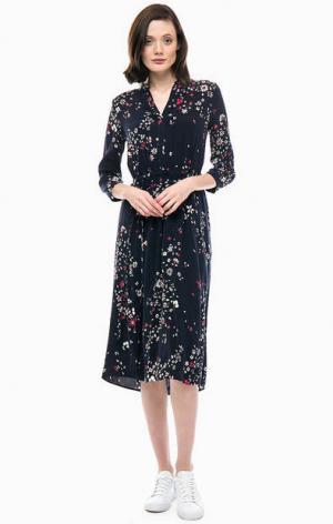 Трикотажное платье с цветочным принтом Marc O'Polo. Цвет: цветочный принт