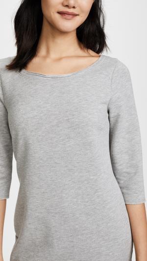 Flounce Sweatshirt Dress Three Dots