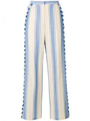 Tasselled striped trousers Dodo Bar Or. Цвет: телесный
