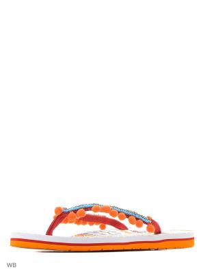 Пантолеты S.OLIVER. Цвет: голубой, красный, оранжевый
