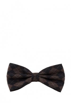 Бабочка Churchill accessories. Цвет: коричневый