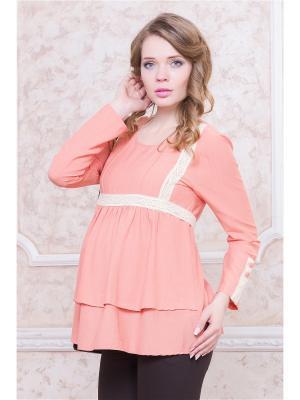 Блуза для беременных Gebbe. Цвет: розовый