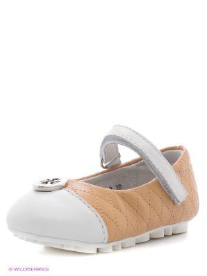 Туфли Vitacci. Цвет: бежевый, белый