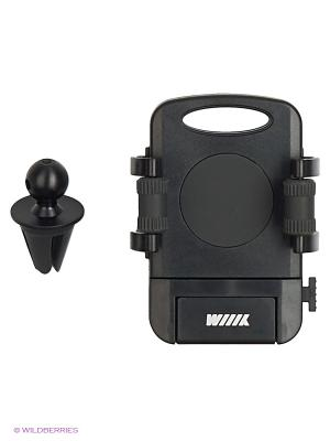 Держатель телефона/смартфона с кнопкой фиксации зажима HT-WIIIX-01Vgt на вентиляцию WIIIX. Цвет: черный