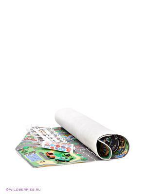 Игровой коврик с дорожными знаками AVC. Цвет: серый, зеленый