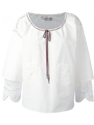 Блузка с рюшами на рукавах Tsumori Chisato. Цвет: белый